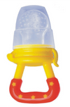 Fruit feeder silicone teether with lid for hygienic travel perfect for on the go