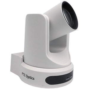 PTZOptics 12x NDI Camera with C Style Power Supply (White)