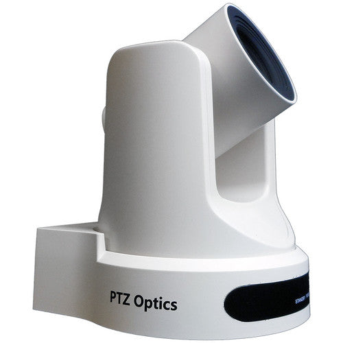 PTZOptics 20x NDI Camera with C Style Power Supply (White)