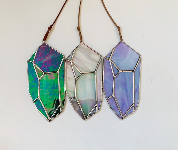 Iridescent Periwinkle Crystal