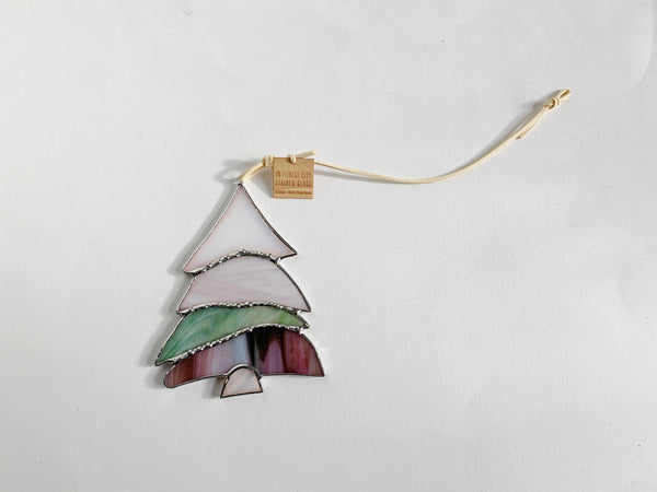 Pearl, Pink, Sage• Stained Glass Winter Pine