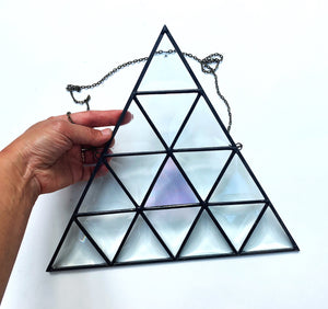 "10.5"" x 12.5"" Beveled Triangle with Iridescent Pop"