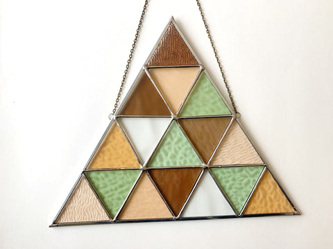 Triangle in Textured Pastels