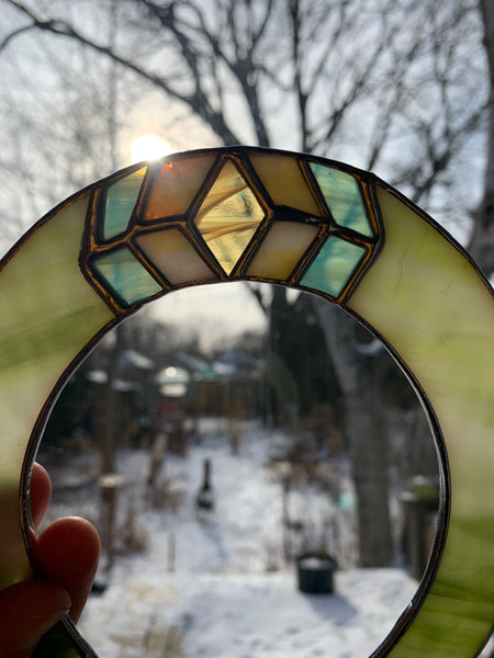 Grassy Green • Stained Glass Horseshoe