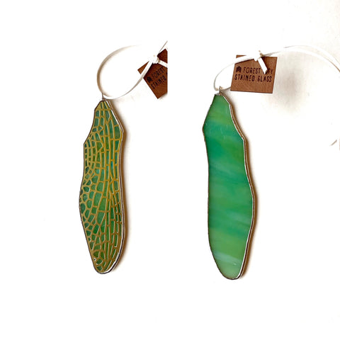 Dragonfly Forewing • Iridescent Green