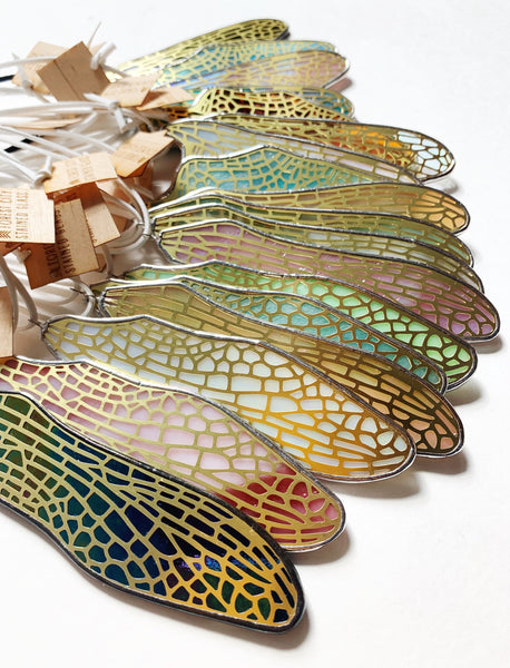 Iridescent Swirled Amber 2  • Dragonfly Right Forewing