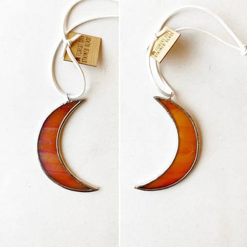 "3"" Moon • Iridescent Persimmon"