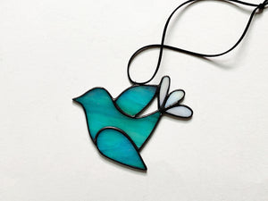Folk Art Bird • Iridescent Turquoise