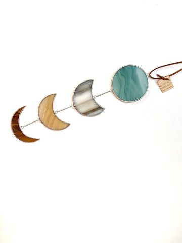 Half Moon Mobile • Camel, Cream, Teal, and Brown