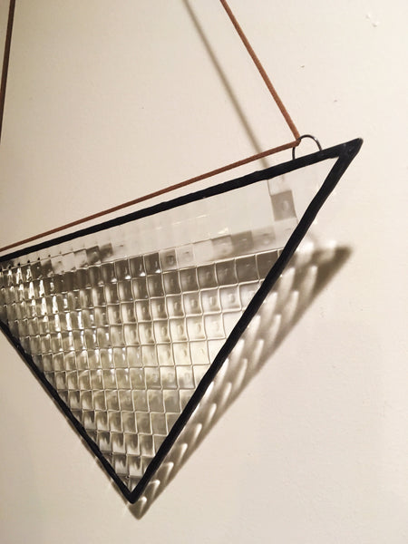 "14"" x 7"" Triangle in Textured Glass"