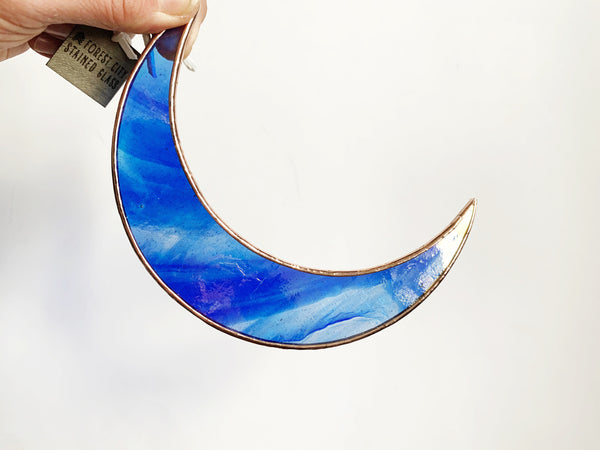 "5.5"" Crescent Moon • Iridescent Royal Blue"