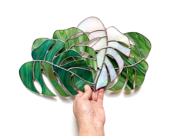 Monstera Leaf • Iridescent Green