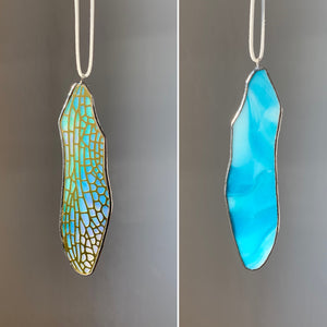Dragonfly Forewing • Iridescent Turquoise