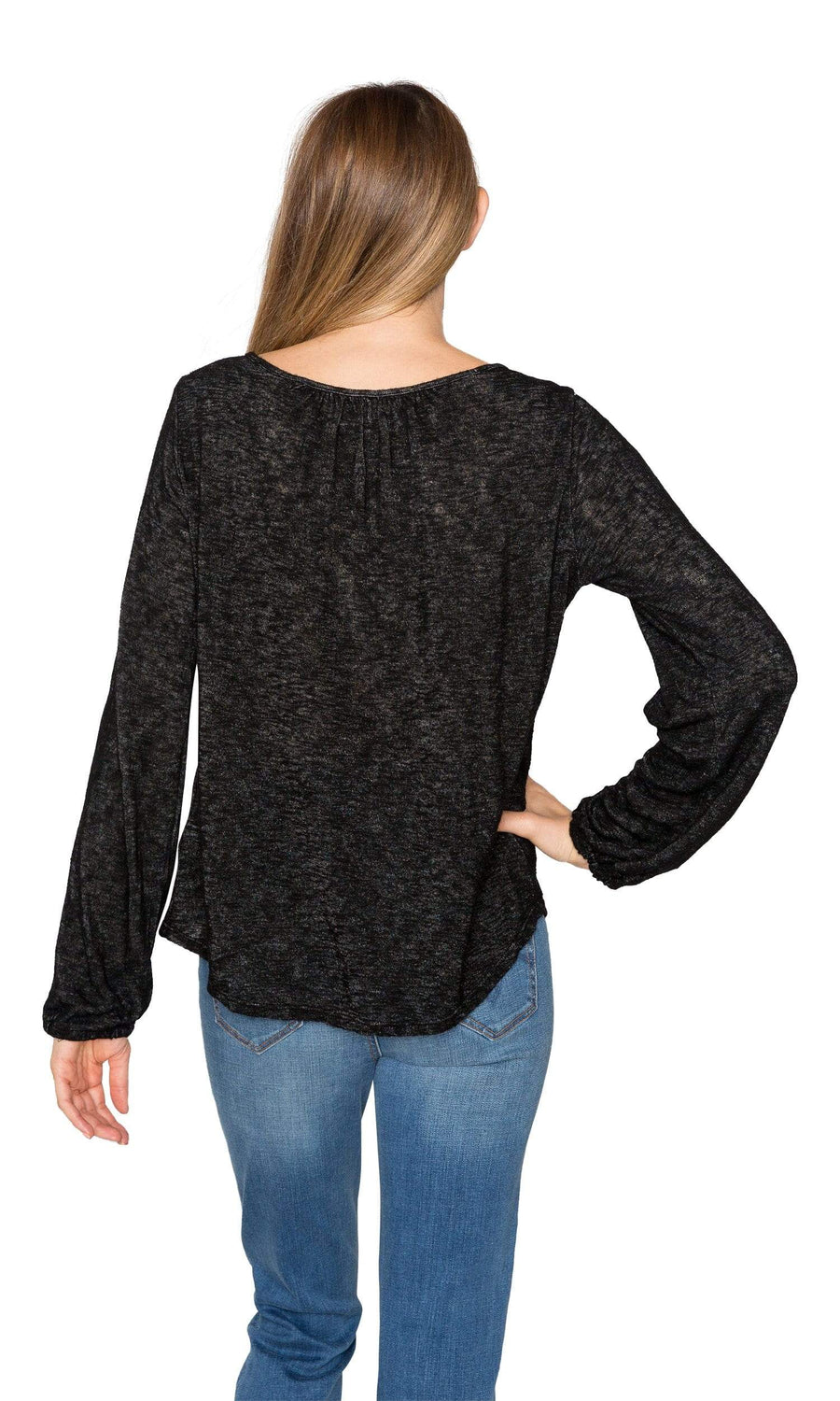 Velvet by Graham & Spencer Bellatrix Slit Sleeve Textured Knit Top