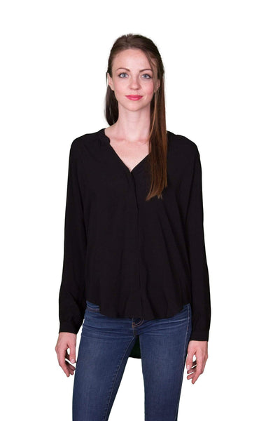 Velvet by Graham & Spencer Kinzly Rayon Challis Pintuck Top