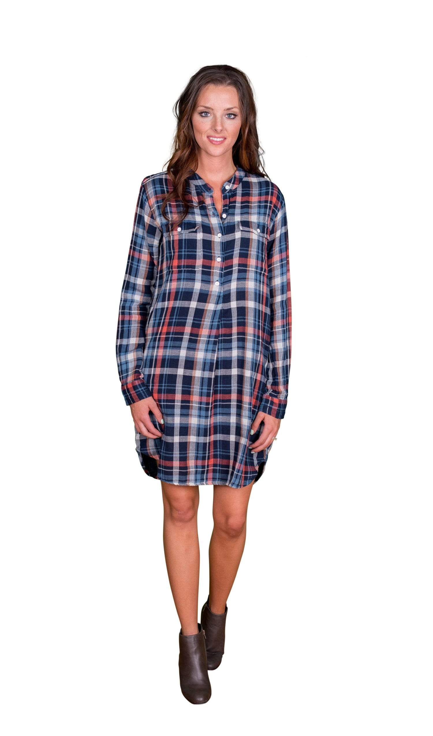 Velvet by Graham & Spencer Gabrielle Plaid Shirt Dress