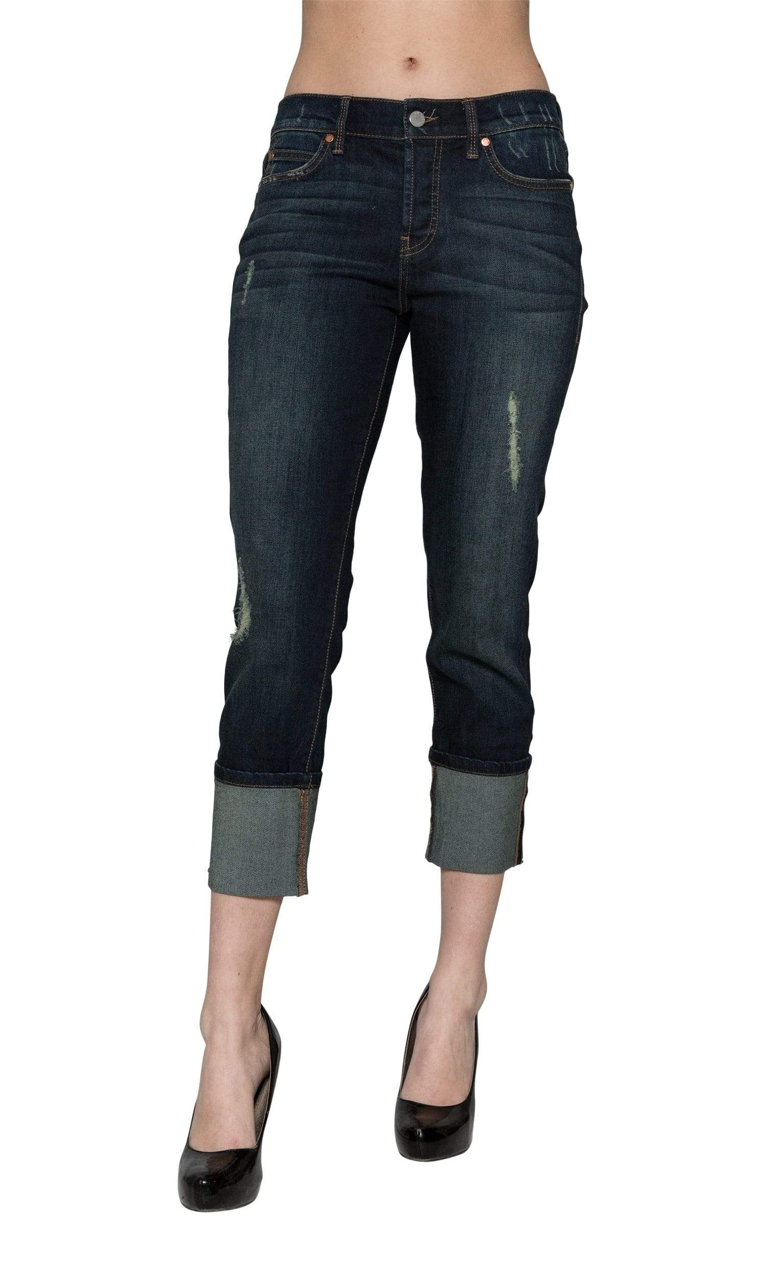 Level 99 Morgan Cuffed Straight Leg Denim - Valley
