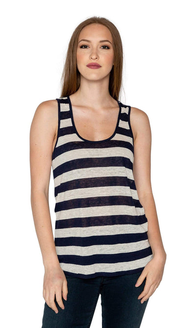 Velvet by Graham & Spencer Shoshana Striped Tank Top-Velvet-Vintage Fringe