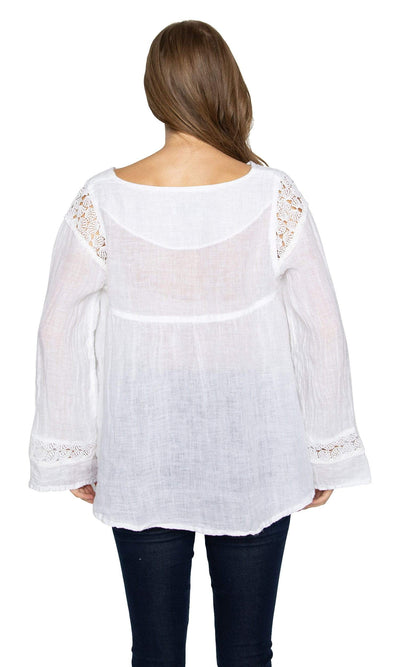 Haris Cotton Lace Trim Blouse