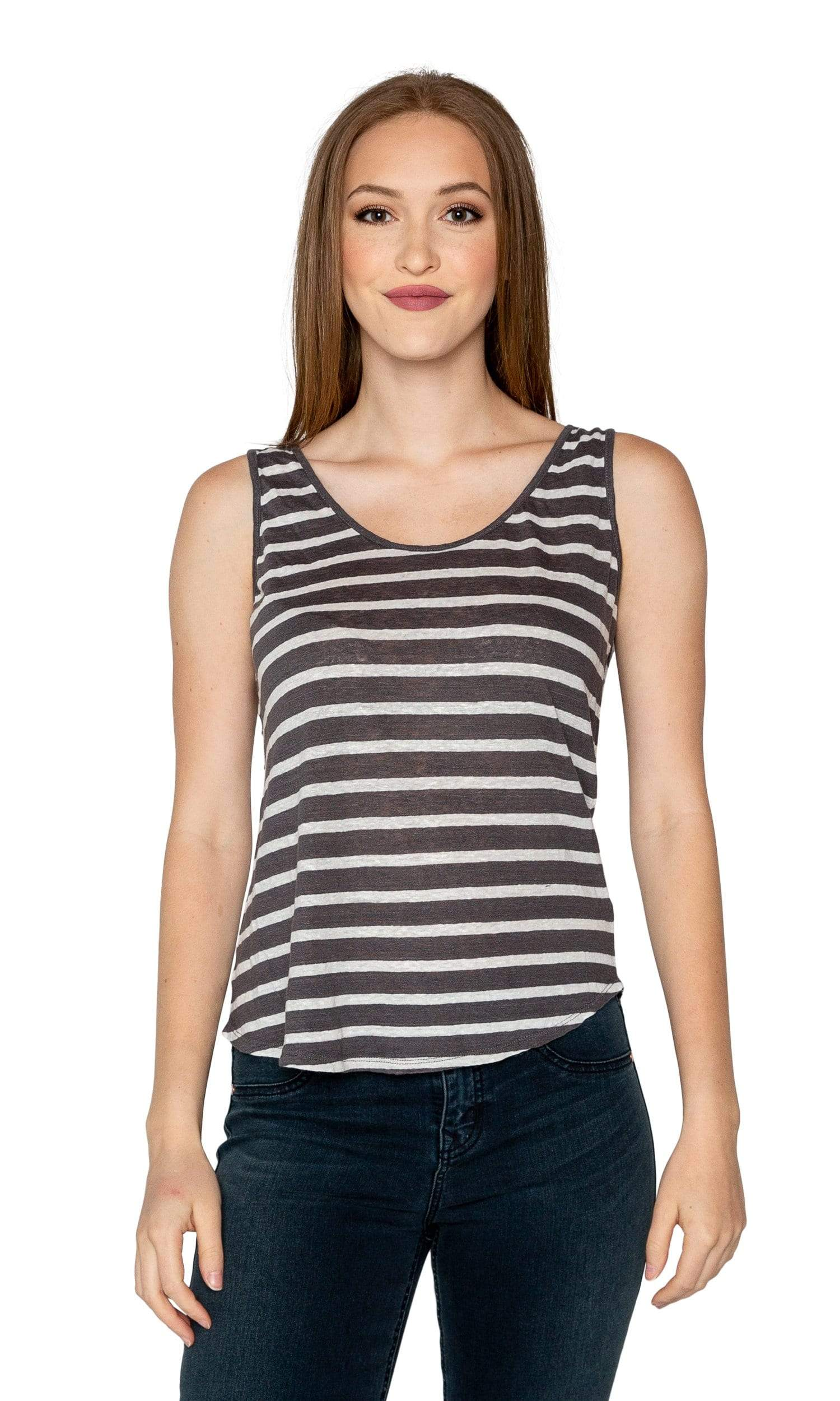 Velvet by Graham & Spencer Caddy Striped Tank Top-Velvet-Vintage Fringe