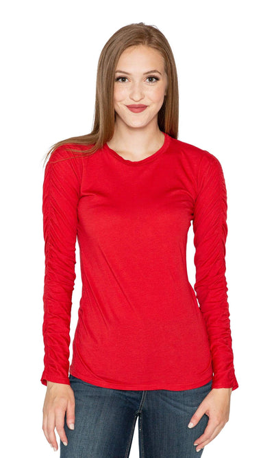 Velvet by Graham & Spencer Miss Shirred Sleeve Top