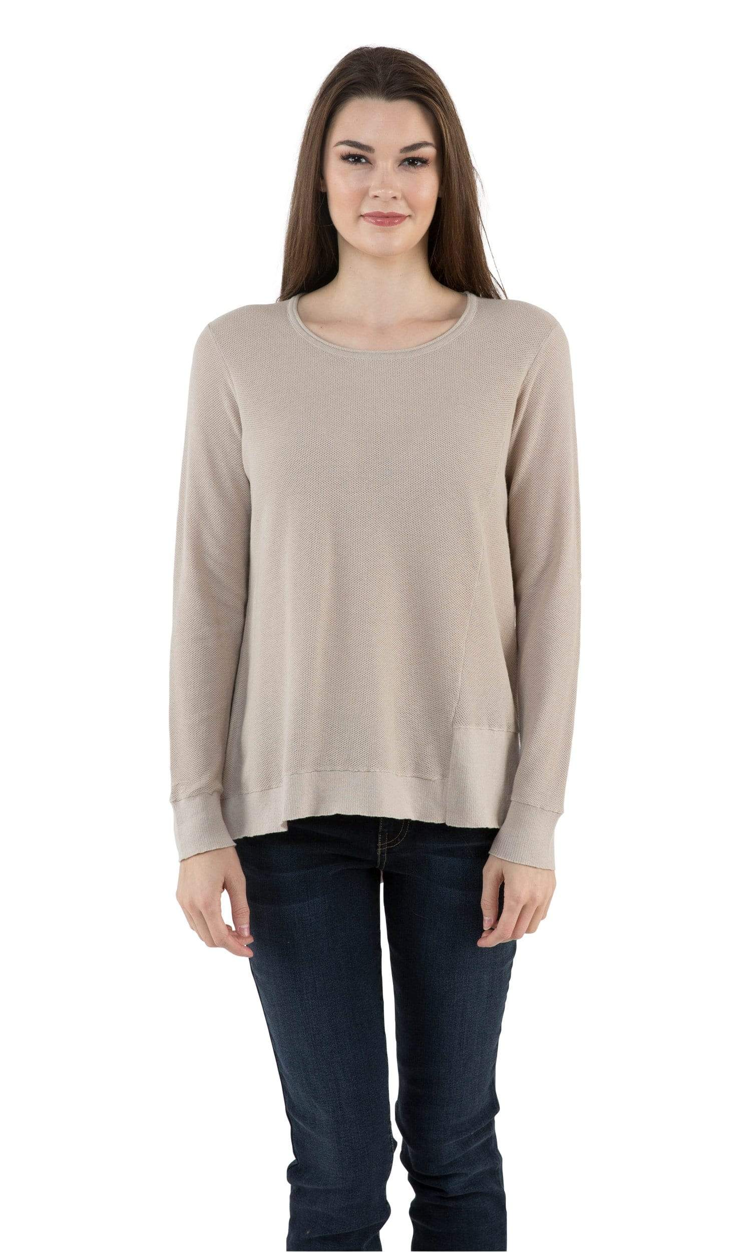 Sogi Pique Stitch Asymmetric Sweater