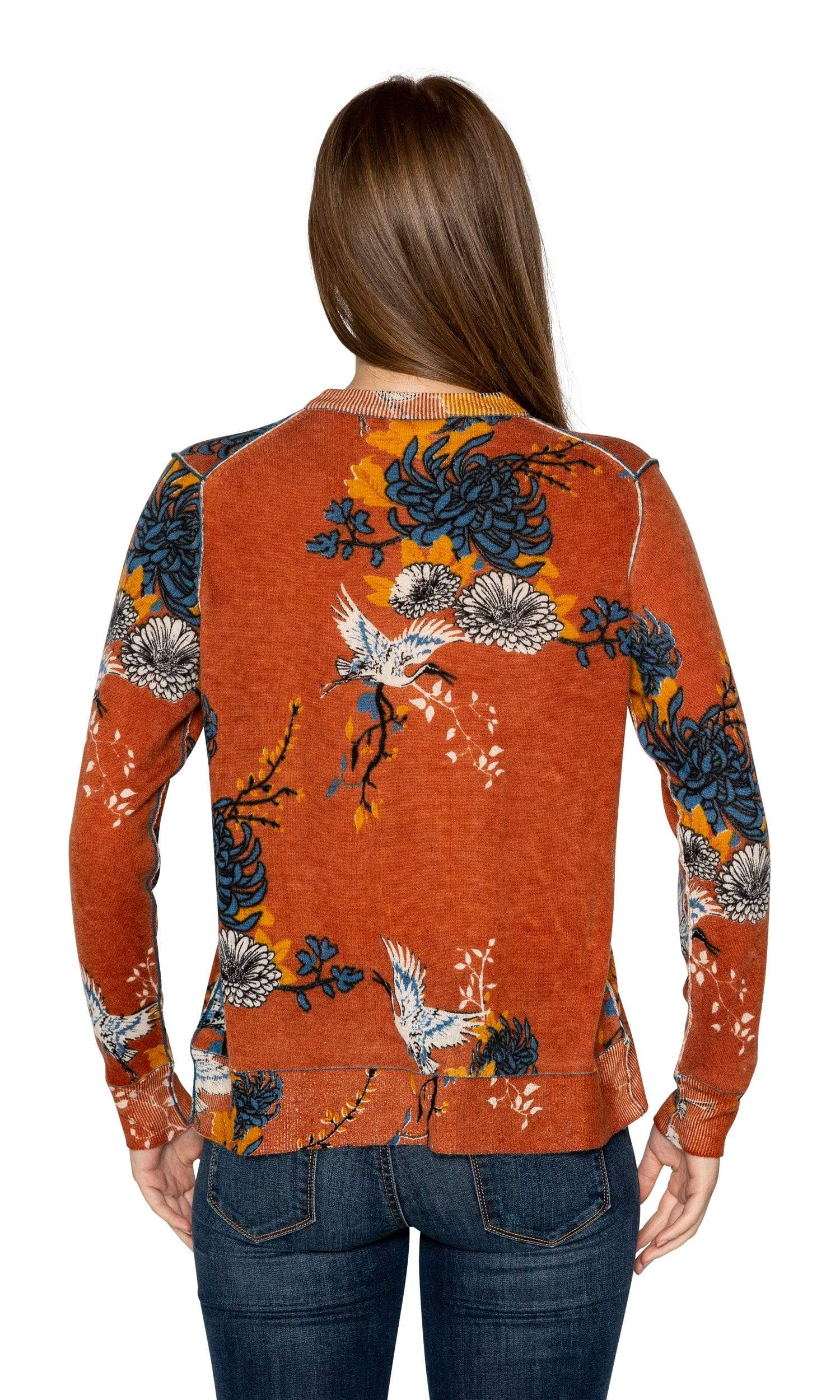 Knitwit Cashmere Comfy Crew - Japanese Floral