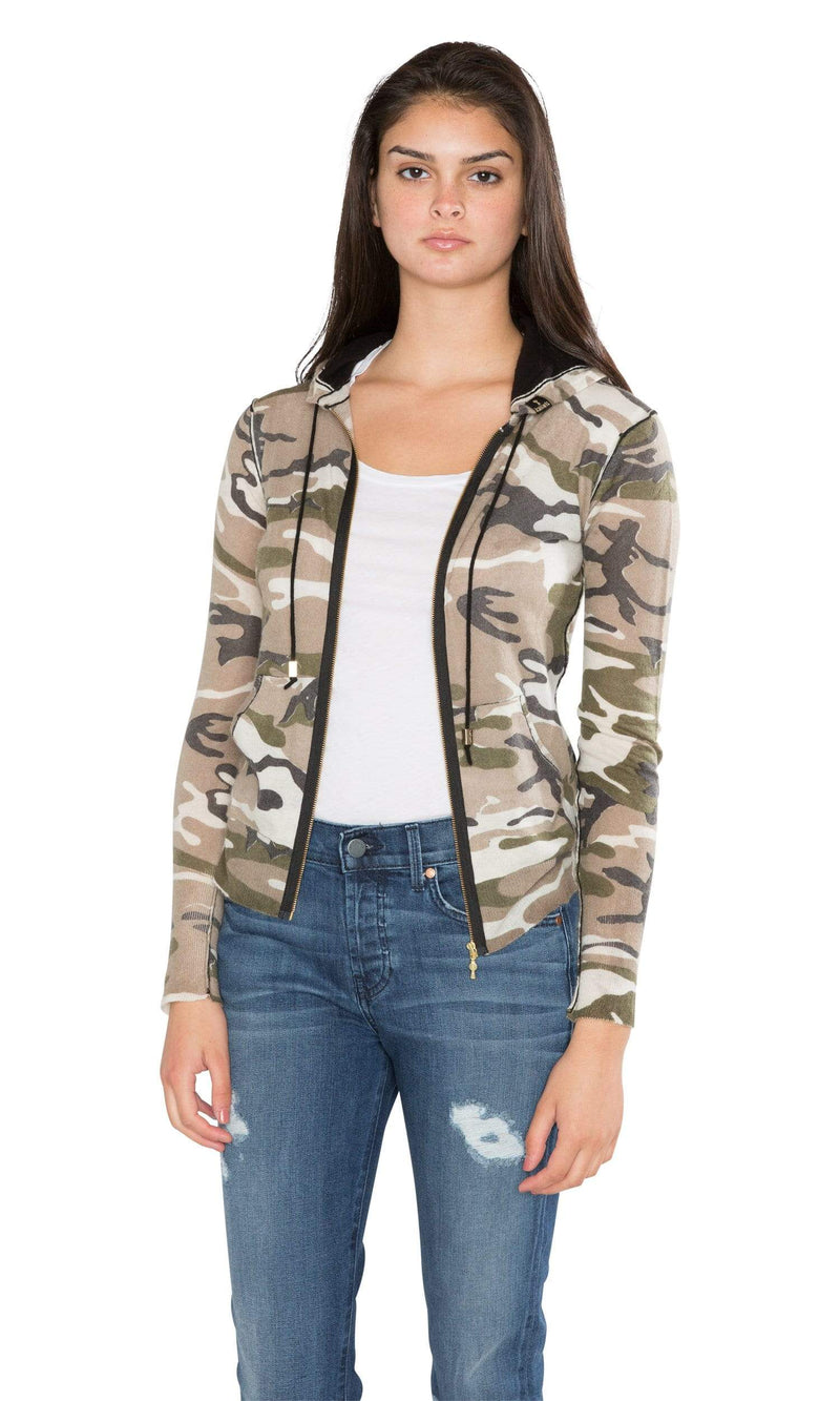 Knitwit Classic Zip Hoodie Light Cashmere - Camo