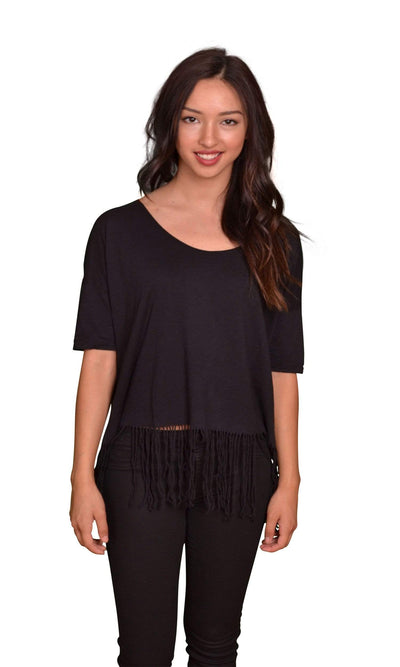 Velvet by Graham & Spencer Kelyn Fringe Top-Velvet-Vintage Fringe