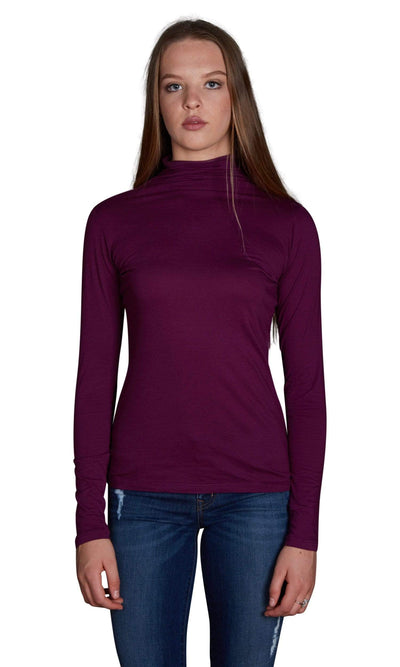 Velvet by Graham & Spencer Talisia Gauzy Whisper Turtleneck Top-Velvet-Vintage Fringe
