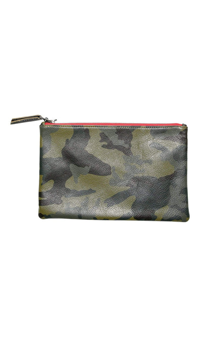 Velvet by Graham & Spencer Valerie Camo Leather Clutch