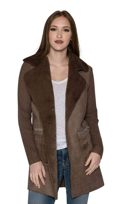 Love Token Faux Sherpa Jacket with Pockets