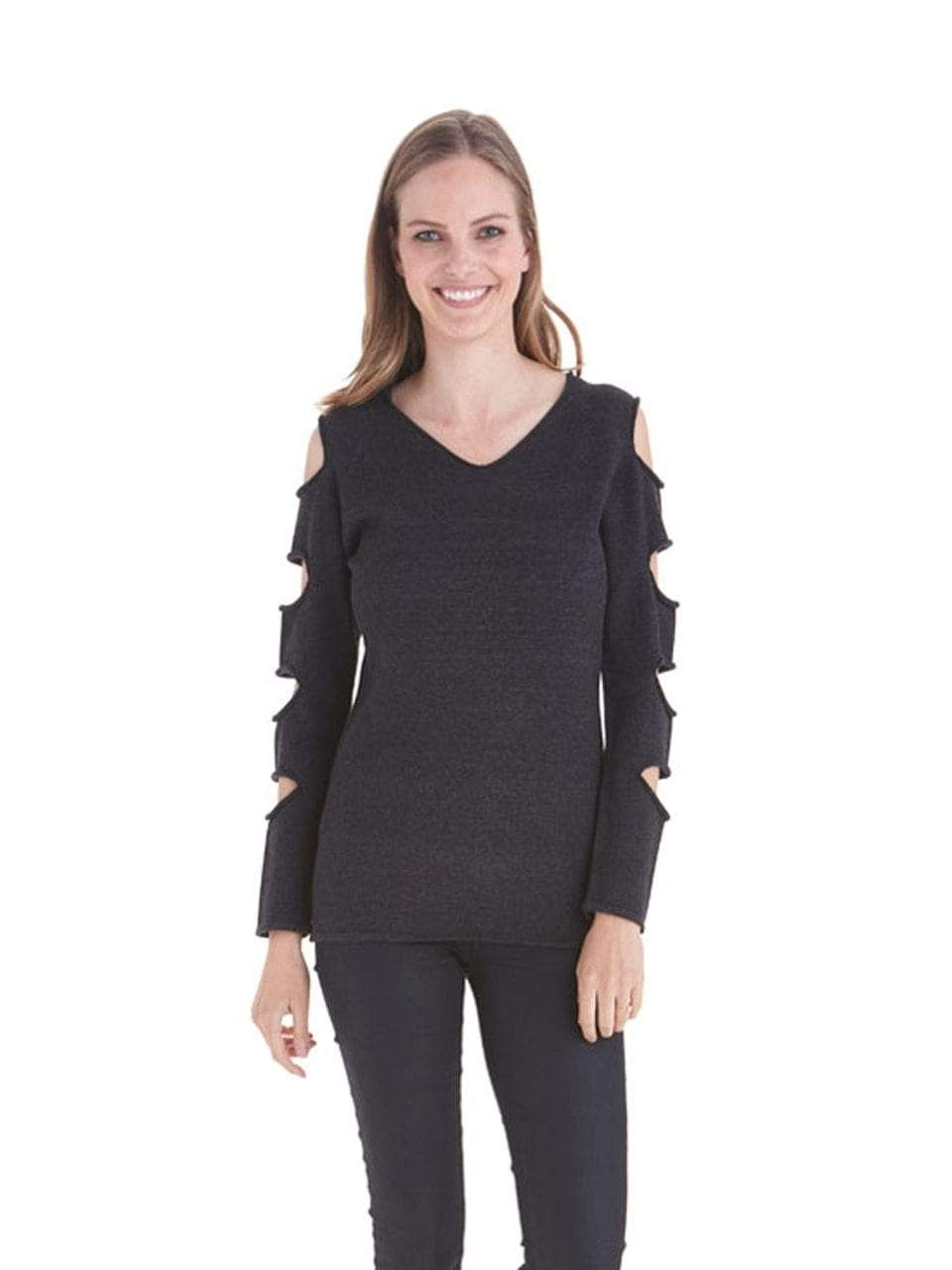 Love Token Cut Out Sleeve Sweater