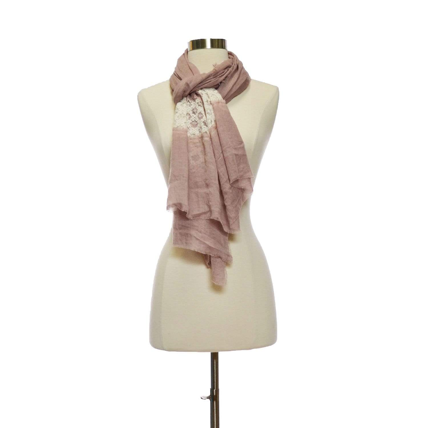 Cotton and Lace Scarf
