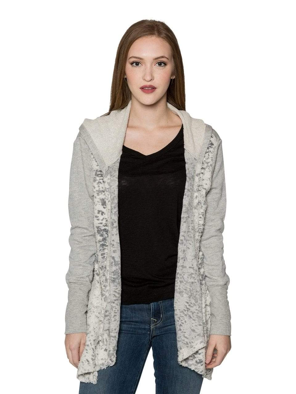 Valln Textured Hooded Cardigan