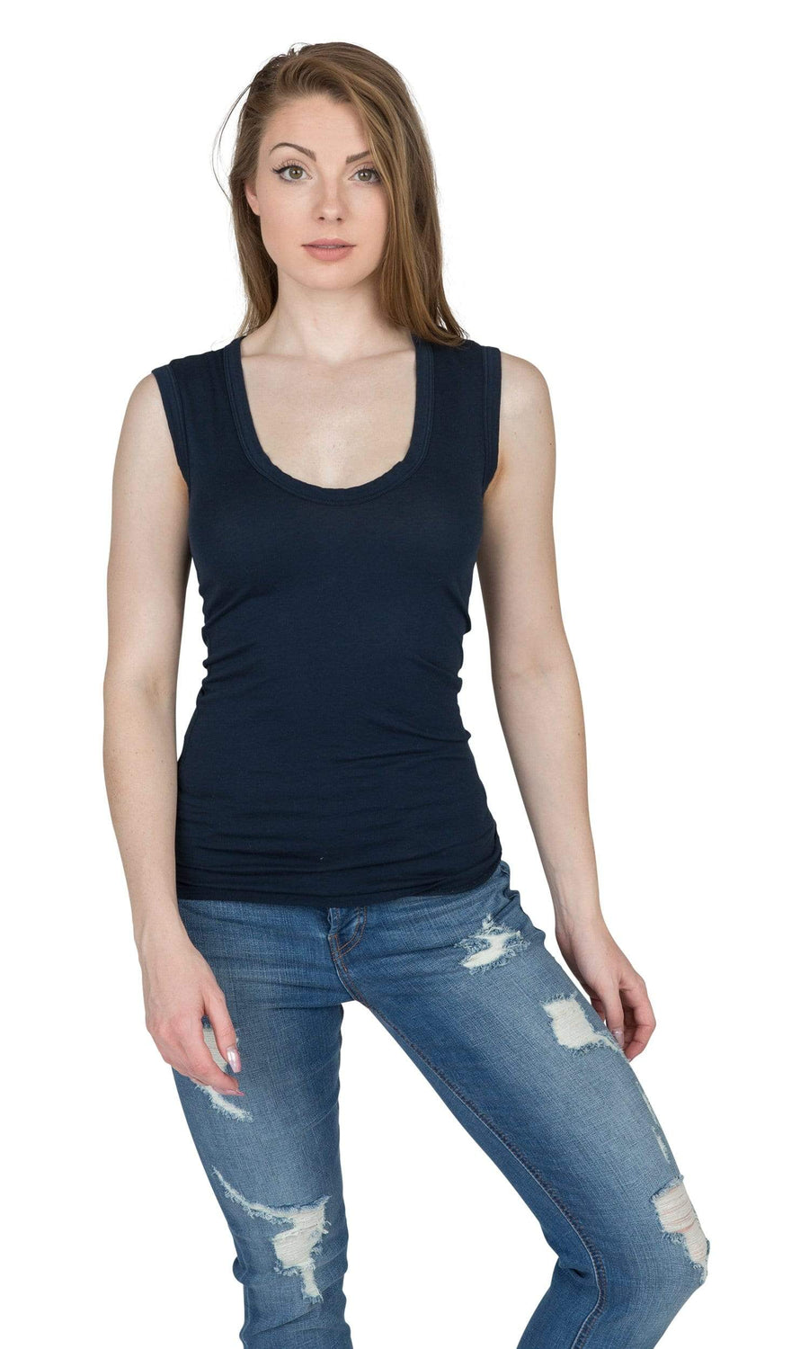 Velvet by Graham & Spencer Estina Gauzy Whisper Scoop Tank Top