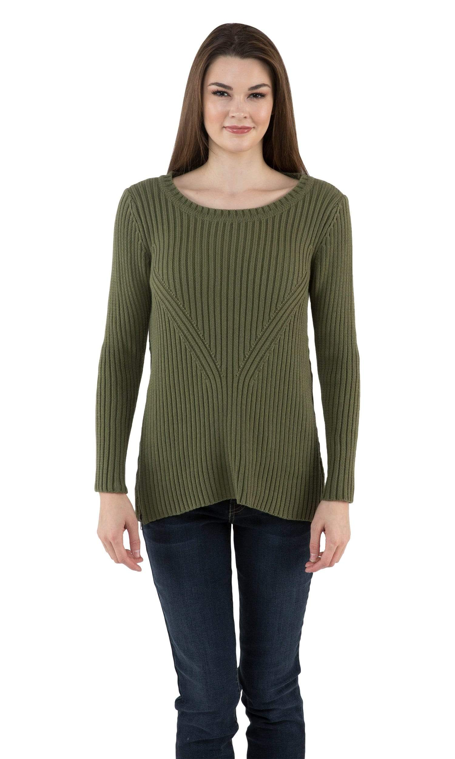 Sogi Engineered Rib Crewneck Sweater