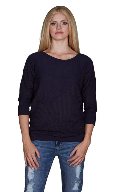 Velvet by Graham & Spencer Amya Waffle Knit Dolman Sleeve Top