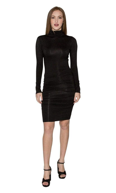 Velvet by Graham & Spencer Lordes Mock Neck Lux Gauze Dress