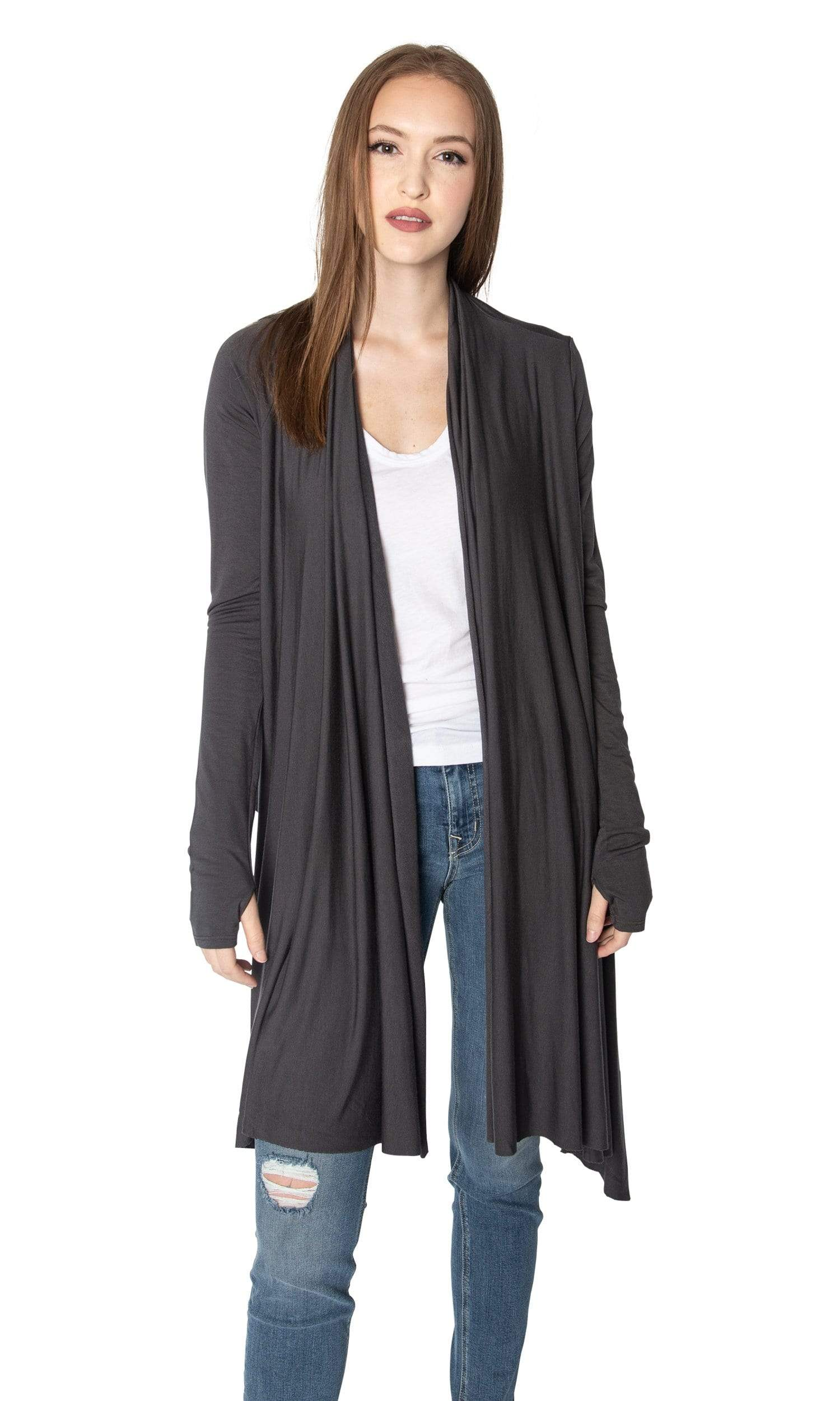 LAmade Waterfall Open Drape Cardigan