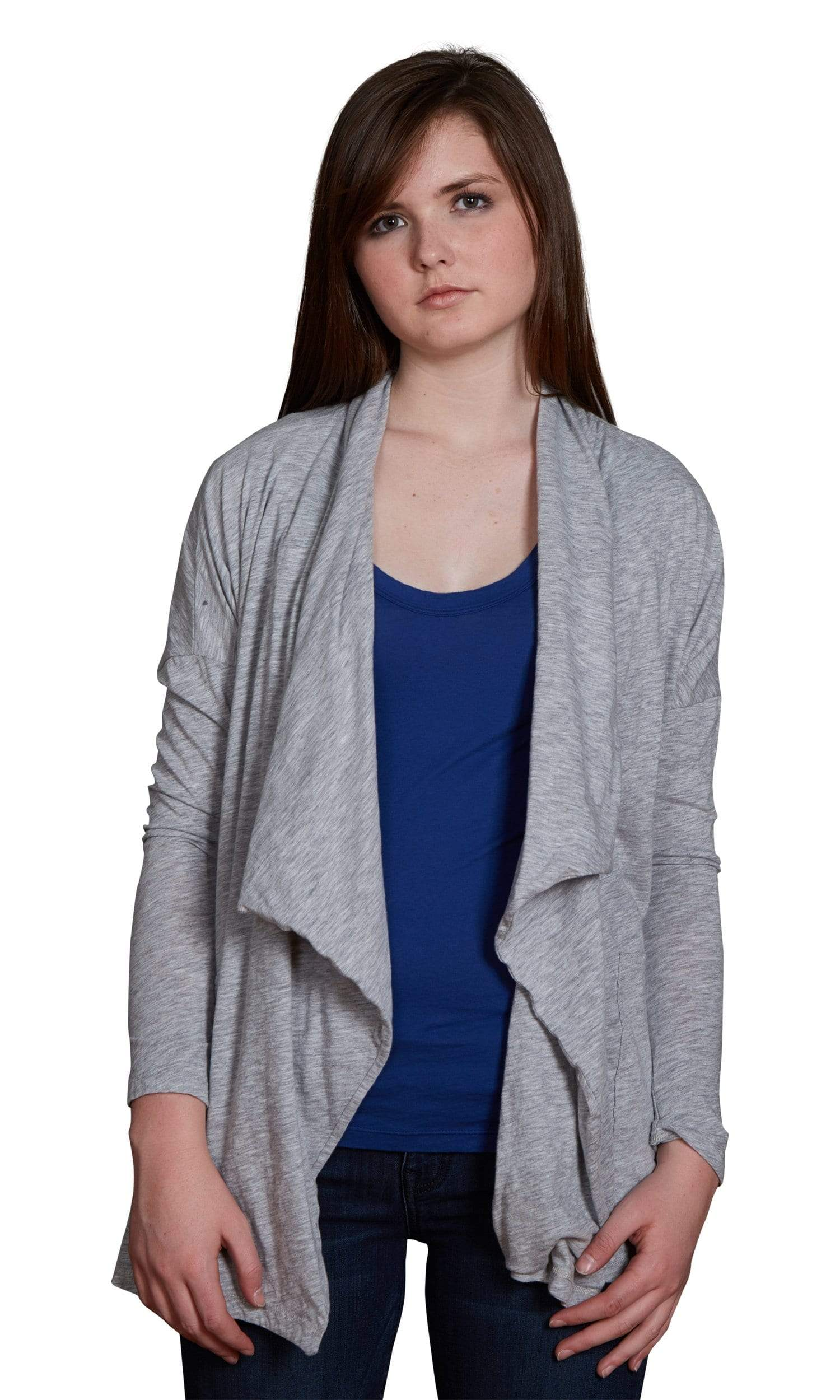 Velvet by Graham & Spencer Emanuela Cotton Slub Open Drape Cardigan