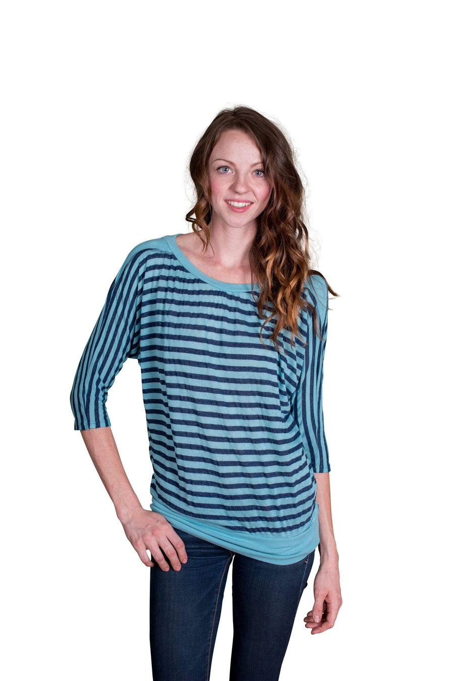 Velvet by Graham & Spencer Maram Striped Dolman Sleeve Top - FINAL SALE-Velvet-Vintage Fringe