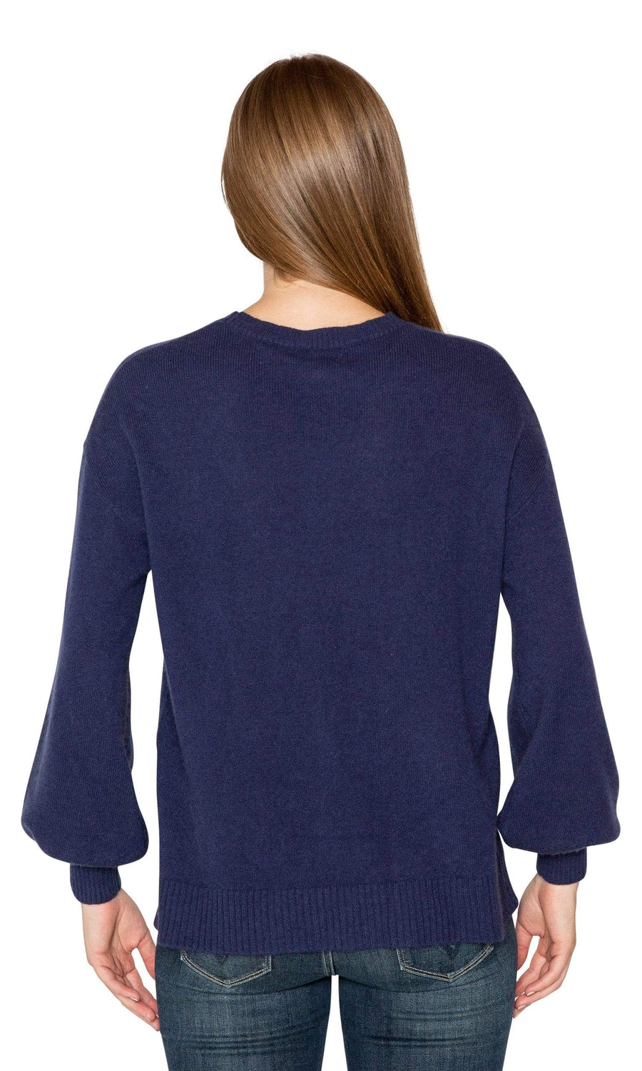 Velvet by Graham & Spencer Selina Cashmere Puff Sleeve Sweater