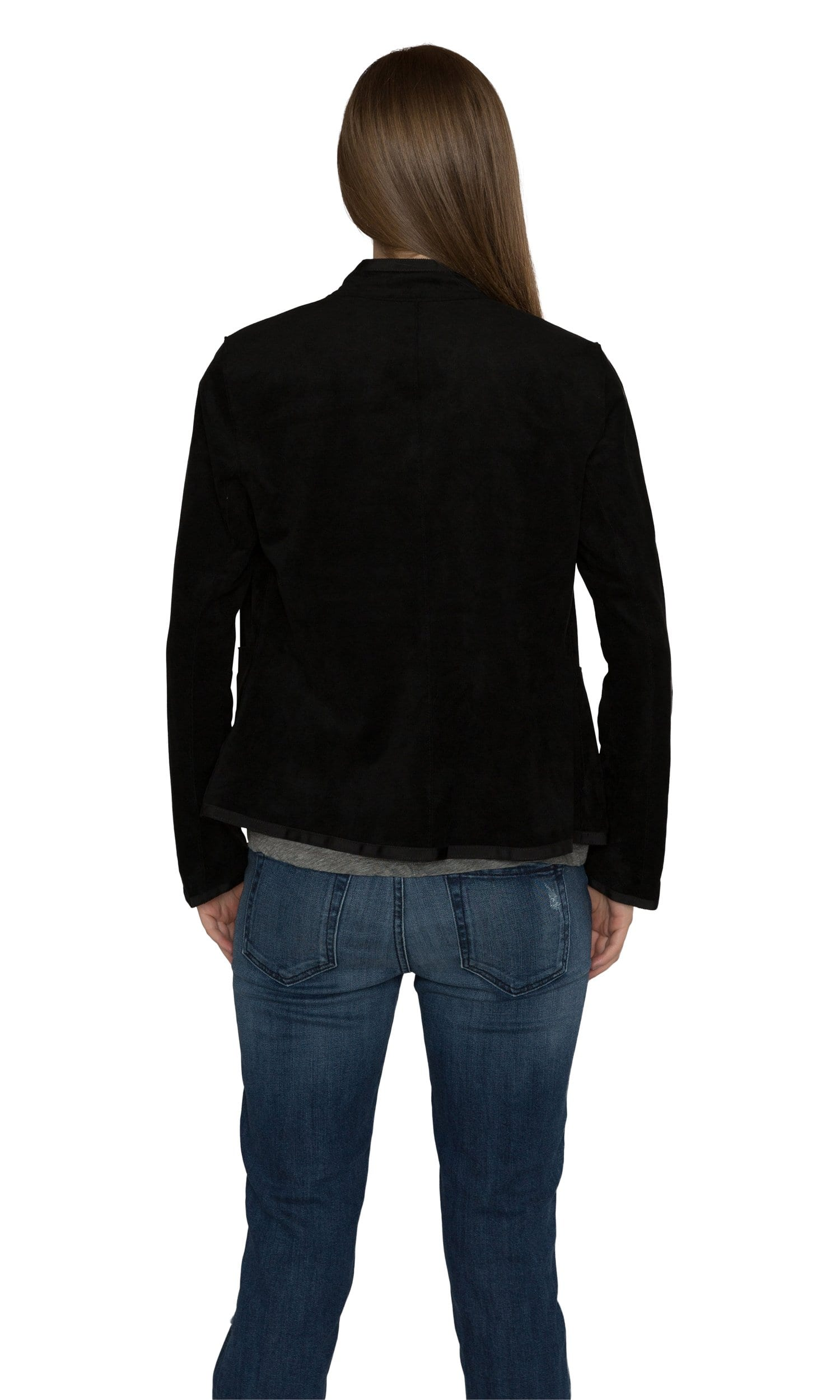 Velvet by Graham & Spencer Everly Faux Suede Mock Neck Jacket