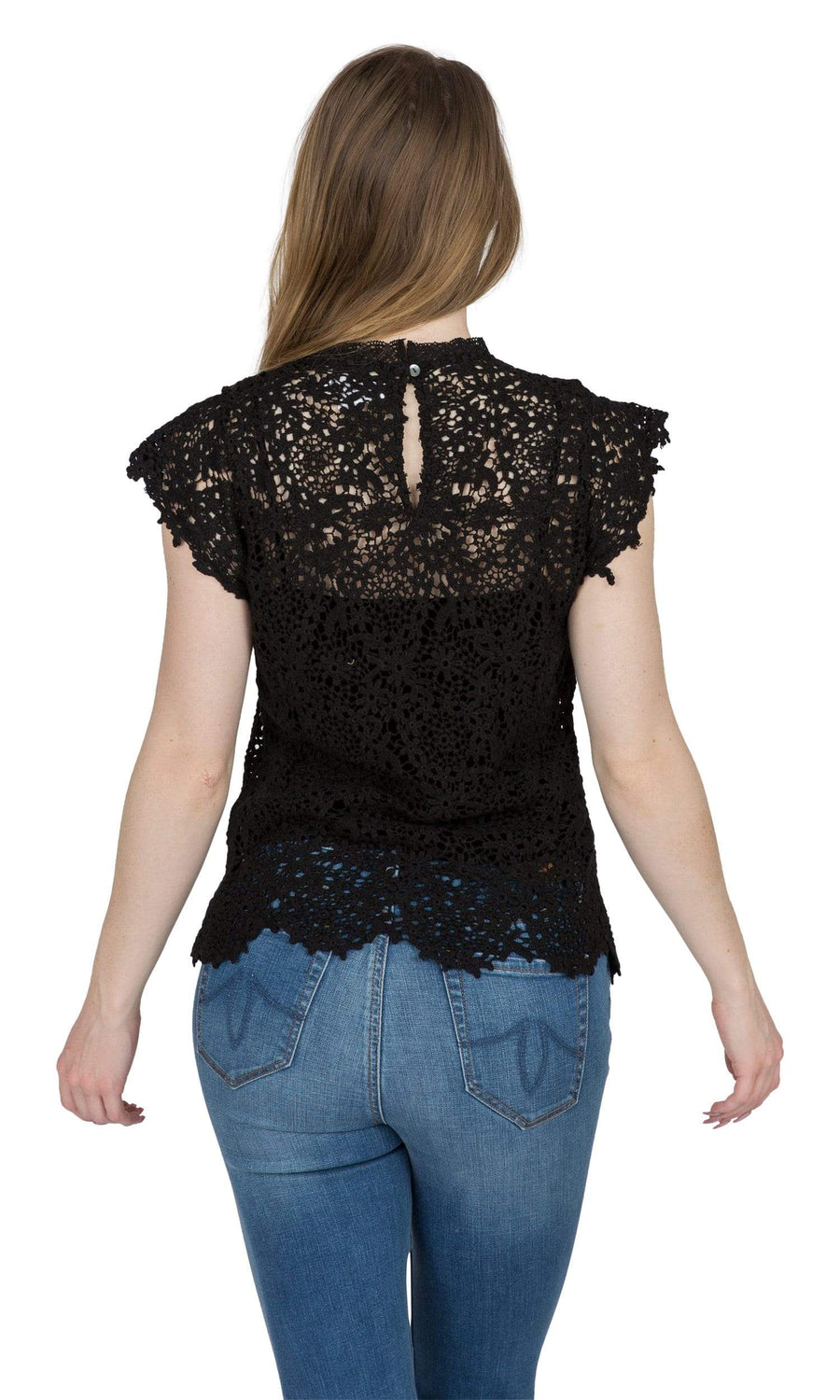 Velvet by Graham & Spencer Allie Lace Cap Sleeve Top-Velvet-Vintage Fringe