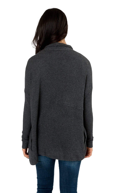 Velvet by Graham & Spencer Ava Cozy Jersey Ribbed Cardigan-Velvet-Vintage Fringe