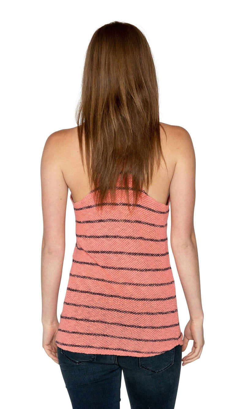 Velvet by Graham & Spencer Anona Striped Racerback Tank Top-Velvet-Vintage Fringe