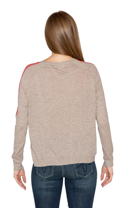Velvet by Graham & Spencer Torie Stripe Lux Cotton Raglan Sweater