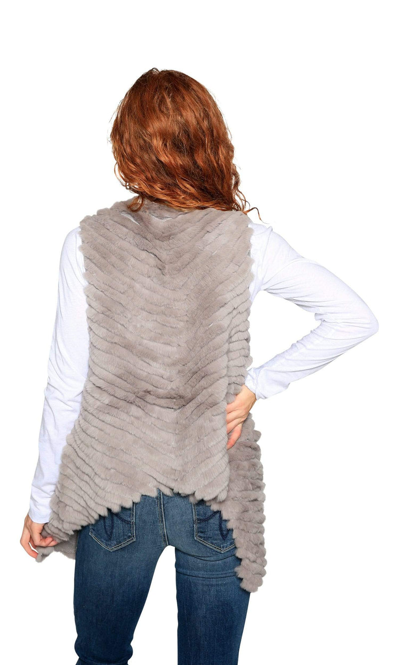 Love Token Layla Genuine Rabbit Fur Vest-Love Token-Vintage Fringe