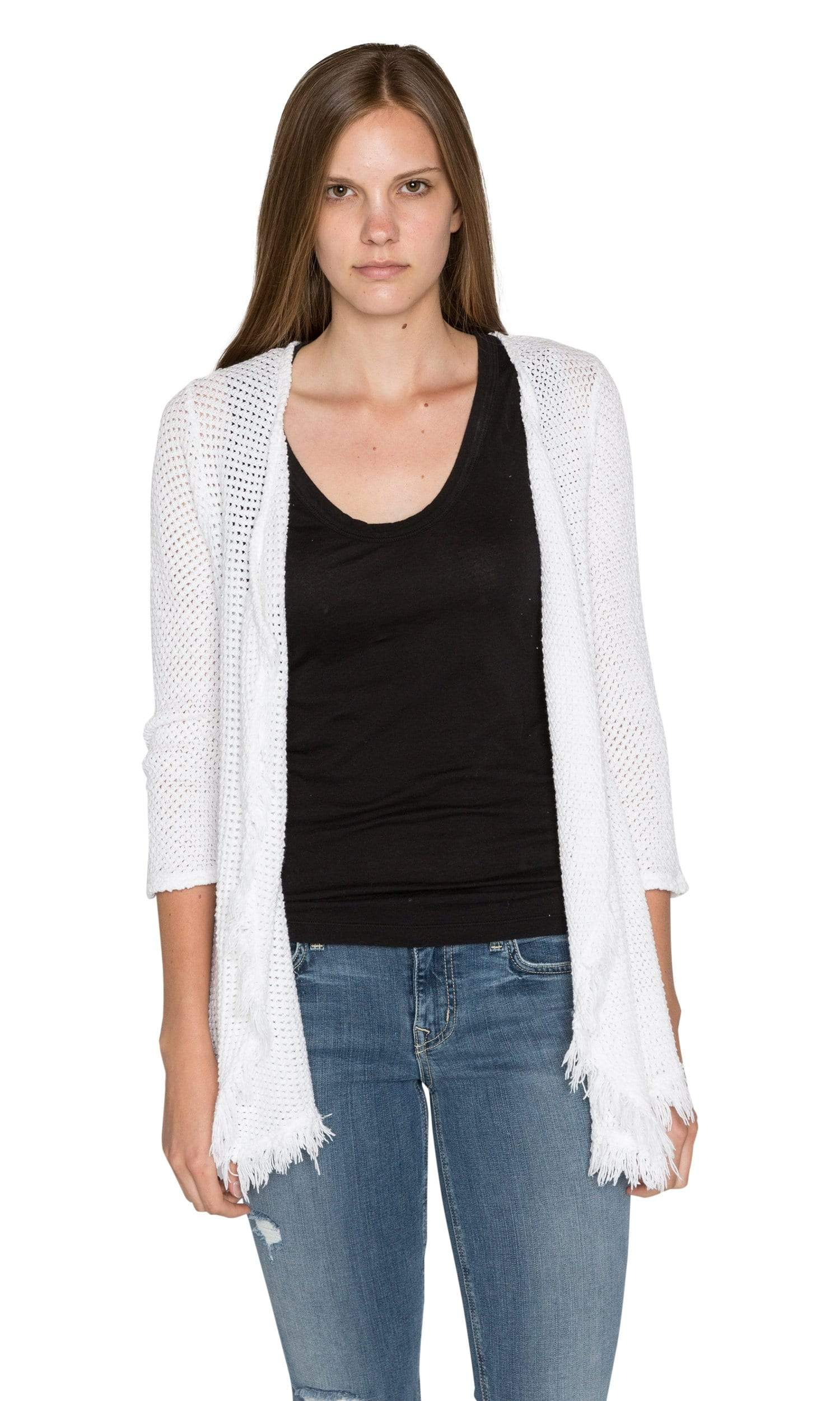 Velvet by Graham & Spencer Floran Crochet Knit Drape Cardigan